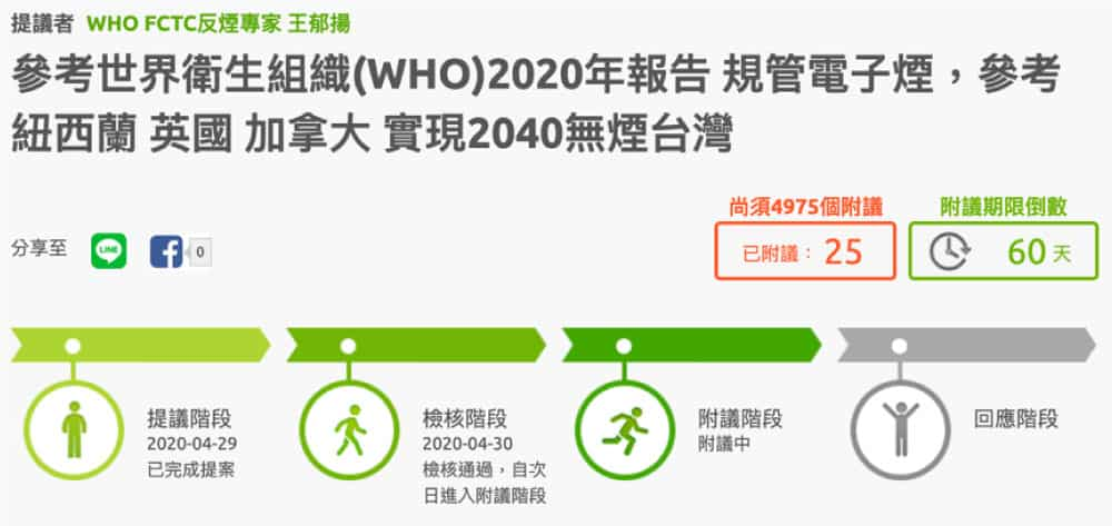 2020 電子煙連署