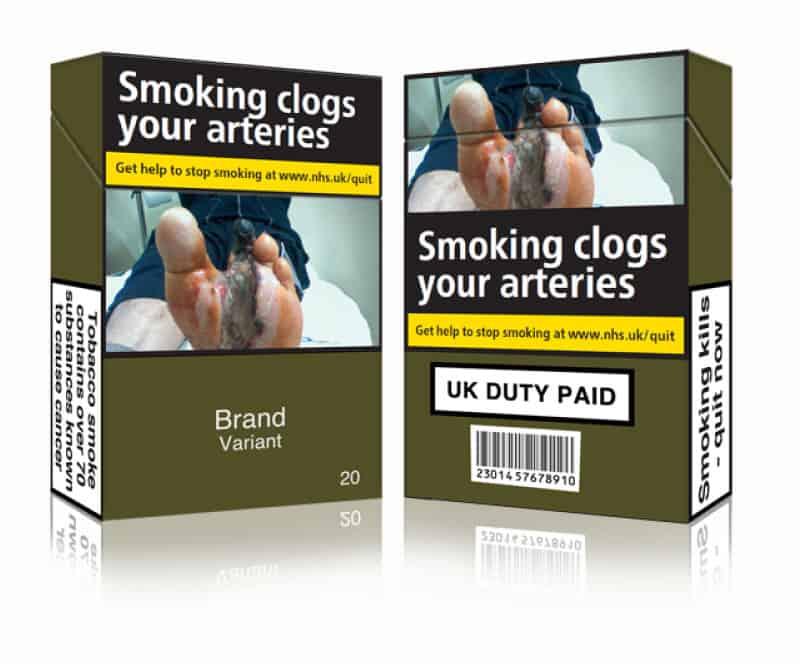 英國 香菸 素面包裝